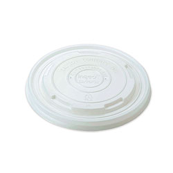 World Centric Paper Bowls Lids, 4.6 in x 4.6 in x 0.5 in, White, 1,000/Carton
