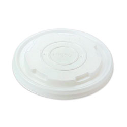 World Centric Paper Bowls Lids, 3.6 in x 3.6 in x 0.5 in, White, 1,000/Carton