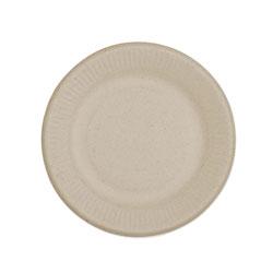 World Centric Fiber Plates, Ripple Edge, 6 in, Natural, 1,000/Carton