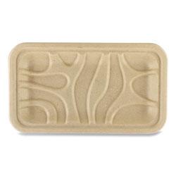 World Centric Fiber Trays, 8.3 x 4.9 x 0.7, Natural, 500/Carton