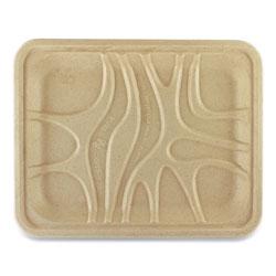 World Centric Fiber Trays, 9.1 x 7.1 x 0.7, Natural, 500/Carton