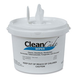 Wexford Labs CleanCide Disinfecting Wipes, Fresh Scent, 8 x 5.5, 400/Tub, 4 Tubs/Carton