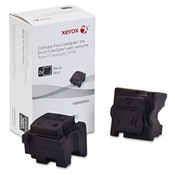 Xerox 108R00993 Solid Ink Stick, 4200 Page-Yield, Black, 2/Box