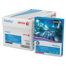 Xerox Vitality Multipurpose Print Paper, 92 Bright, 3-Hole, 20lb, 8.5 x 11, 500 Sheets/Ream, 10 Reams/Carton