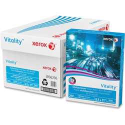 Xerox Recycled Paper, 92Brt, 20lb, 8-1/2 in x 11 in, 5000Sht/CT, White