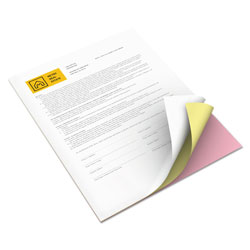 Xerox Revolution Carbonless 3-Part Paper, 8.5 x 11, Pink/Canary/White, 5, 010/Carton