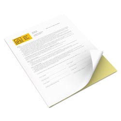 Xerox Vitality Multipurpose Carbonless 2-Part Paper, 8.5 x 11, Canary/White, 5, 000/Carton