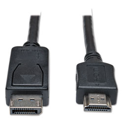Tripp Lite DisplayPort to HDMI Cable Adapter (M/M), 6 ft., Black