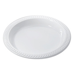 Pactiv Meadoware® OPS Dinnerware, Plate, 6 in Diameter, White, 1,000/Carton