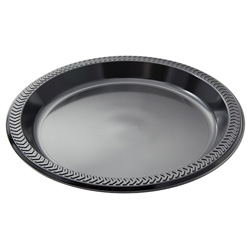 Pactiv 9 in Plastic Plate, Black