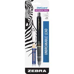 Zebra Mechanical Pencil,0.5 mm, Unbreakable Lead, Black