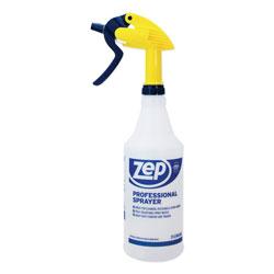 Zep Commercial® Professional Spray Bottle w/Trigger Sprayer, 32 oz, Clear Plastic
