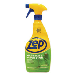 Zep Commercial® Mold Stain and Mildew Stain Remover, 32 oz Spray Bottle, 12/Carton