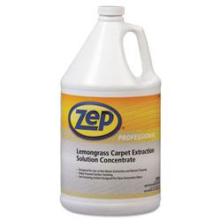 Zep Commercial® Carpet Extraction Cleaner, Lemongrass, 1gal Bottle