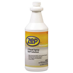 Zep Commercial® Z-Tread Buff-Solution Spray, Neutral, 1qt Bottle