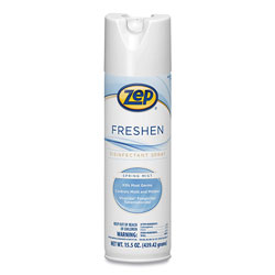 Zep Commercial® Freshen Disinfectant, Spring Mist, 15.5 oz Aerosol Can, 12/Carton