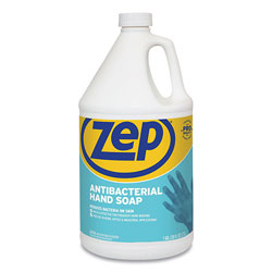 Zep Commercial® Antibacterial Hand Soap, Fragrance-Free, 1 gal Bottle, 4/Carton