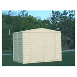 Duramax 8' x 6' Stronglasting DuraMate Vinyl Storage Shed With Foundation Kit