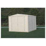 Duramax 8' x 8' Stronglasting DuraMate Vinyl Storage Shed With Foundation Kit