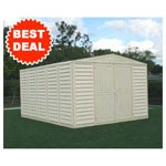 Duramax 10' x 13' Stronglasting Woodbridge Vinyl Storage Shed