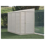 Duramax 4' x 8' Stronglasting SideMate Vinyl Storage Shed With Foundation Kit
