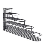 Espresso Supply Black 5 Bottle Wire Rack