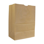 AJM Packaging Kraft Grocery Bag, 57#, Natural