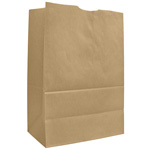 AJM Packaging Kraft Grocery Bag, 75#, Natural