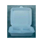 Boardwalk Snap-it Foam Hinged Lid Containers, 1-Comp, 9 1/4 x 9 1/4 x 3, White, 200/Carton