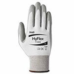 Ansell HyFlex 11-644 Light Cut Protection Gloves, Size 9, Gray/White