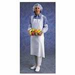 Ansell Disposable Polyethylene Aprons, 28 in x 45 in, White