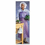 Ansell Vinyl Aprons, 33 in X 44 in, Blue