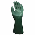 Ansell Scorpio Neoprene-Coated Gloves, Green, Rough, Size 9