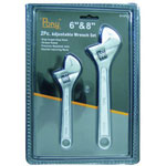 Pony Sg 2 Piece Adjustable Wrench Set