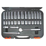 "Pony 31 Piece Thorsen 3/8"" Drive std./deep Socket Set 6 Point"