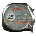 "Jorgensen 1"" x 25' Metric/SAE Powermeasuring Tape, Chrome"