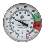 "Espresso Supply 7"" Easy Stem Thermometer"