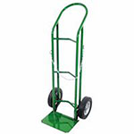 Anthony Single Cylinder Delivery Cart, For 9.5-12in dia., 10in Solid Rubber/Plastic Rim
