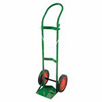 Anthony Single Cylinder Heavy-Duty Medical Cart, For 9.5in Cylinder, 10in Rubber/Steel Rim