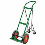 Anthony Retractable Single-Cylinder Medical Carts, 10 in Rubber/Steel Rim Wheels