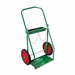 Anthony Low-Rail Frame Dual-Cylinder Carts, Holds 9.5in dia. 14in Rubber/Steel Rim Wheels