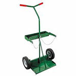 Anthony Medium Heavy-Duty Dual-Cylinder Carts, 10in Solid Rubber/Plastic Rim Wheels