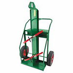 Anthony Heavy-Duty Reinforced Frame Dual-Cylinder Carts, 16in Solid Rubber Wheels