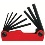 "Allen 641 8Piece Flame OranHex Key Set .050"" -5"