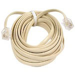 Belkin Pro Series Phone Line Cord - Phone Cable - RJ-11 (M) - RJ-11 (M) - 25' - Ivory