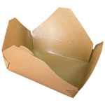 Fold-Pak BioEarth #2 Take Out Carton, Kraft
