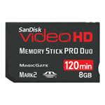 Sandisk Video HD flash memory card - 8 GB - MS PRO DUO