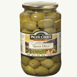 Pacific Choice Specialty 1 Gallon 100-100 Count Pimento Stuffed Olives in Jars
