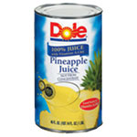 Dole Processed Foods Juice Pineapple 46 Ounce