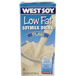 The Hain Celestial Group 1 Quart Plain WestSoy Low Fat Soymilk